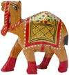 Camel - Hand Carved Painted Kadam Wood Figurines India