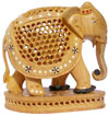 Hand Carved Set of 4 Pcs of Elephants India Art Work Handicrafts Gifts Exclusive