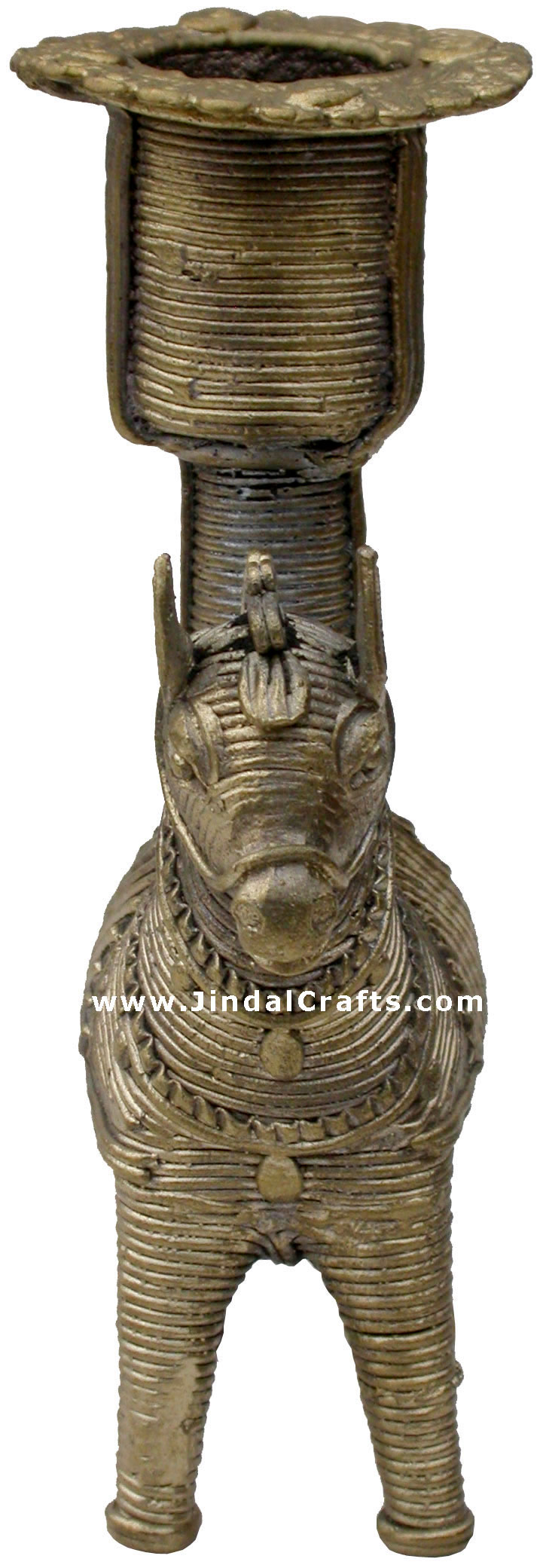 Dhokra Horse Candle Stand - Indian Tribal Art