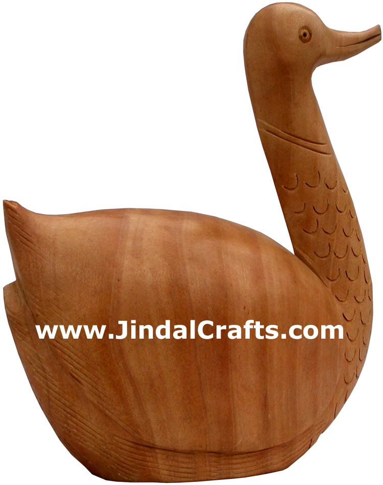 Duck Animal Wood Carving Hand Carved Figurines Indians