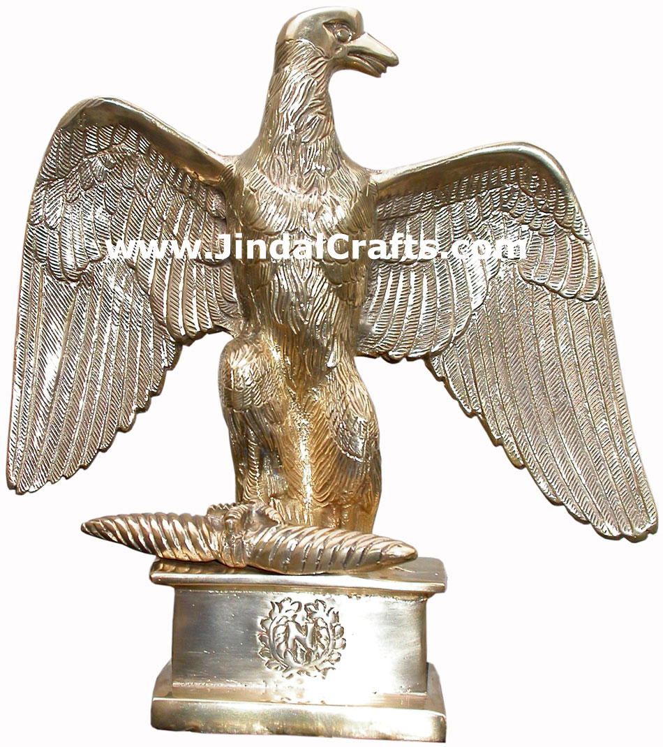 Eagel Figure - Hand Carved Indian Art Craft Handicraft Fung Shui Home Decor