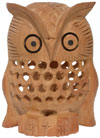 Kadam Wood Hand Carved Owl India Artifacts Arts