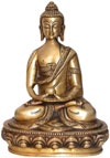 Brass Buddhist Sculpture India Carving Art