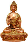 Brass Made Buddha Sculpture - Buddhism Artifacts India