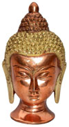 Buddha Head Metal Statue Figures Hand Crafts Artifacts