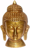 Buddha Head - Hand Carved Indian Art Craft Handicraft Home Decor Brass Figurine