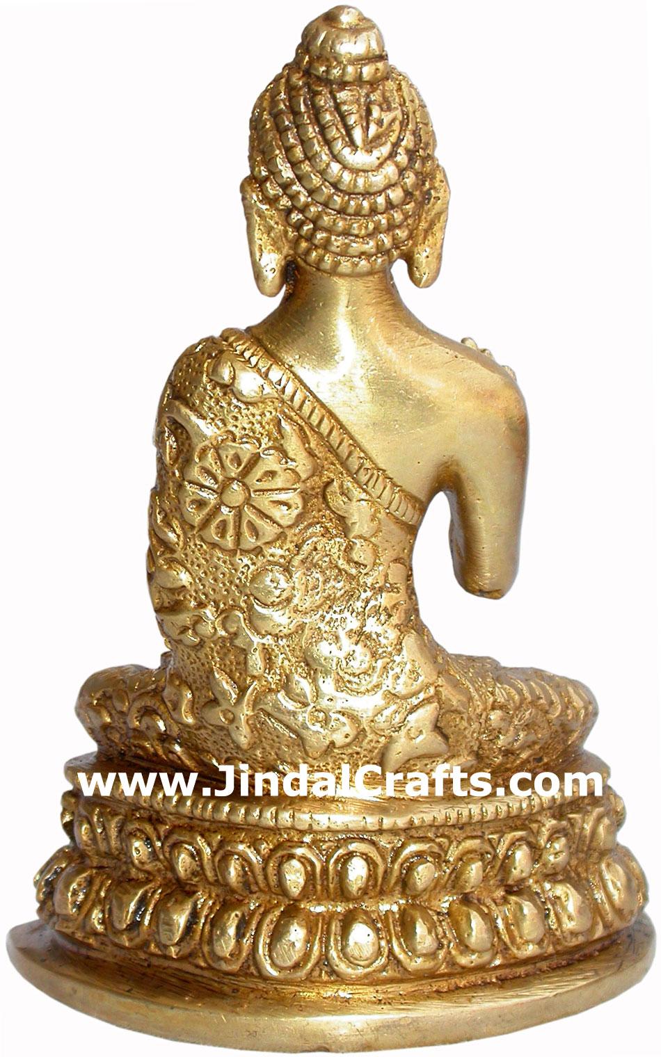Buddha Hand Carved Indian Art Craft Handicraft Home Decor Brass Figurine