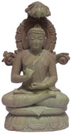 Master Piece - Hand Carved Pink Stone Buddha Statues India Decoration Stone Art