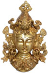 Brass Made Hindu Goddess Tara Mask Hanging India Art