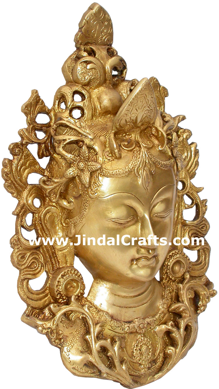 Tara Face Wall Hanging Metal Crafts India Handicrafts
