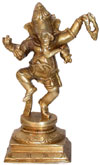 Brass Dancing Lord Ganesha India Artifacts