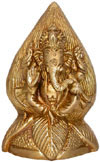Brass Coconut Lord Ganesha India Artifacts