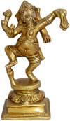 Dancing Ganesha Figures Brass Sculptures Indian God Art