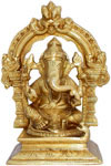 Handmade Brass Statue of God Ganesha India Brassware Handicraft Art Craft