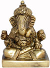 Ganesha - Hand Carved Indian Art Craft Handicraft Home Decor Brass Figurine