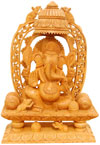 Handcrafted Ganesh - Indian Religious Artifact Home Art