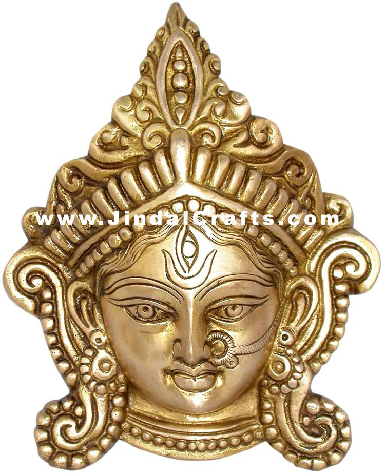 Durga Face Wall Hanging Indian Religious Goddess Home Decor