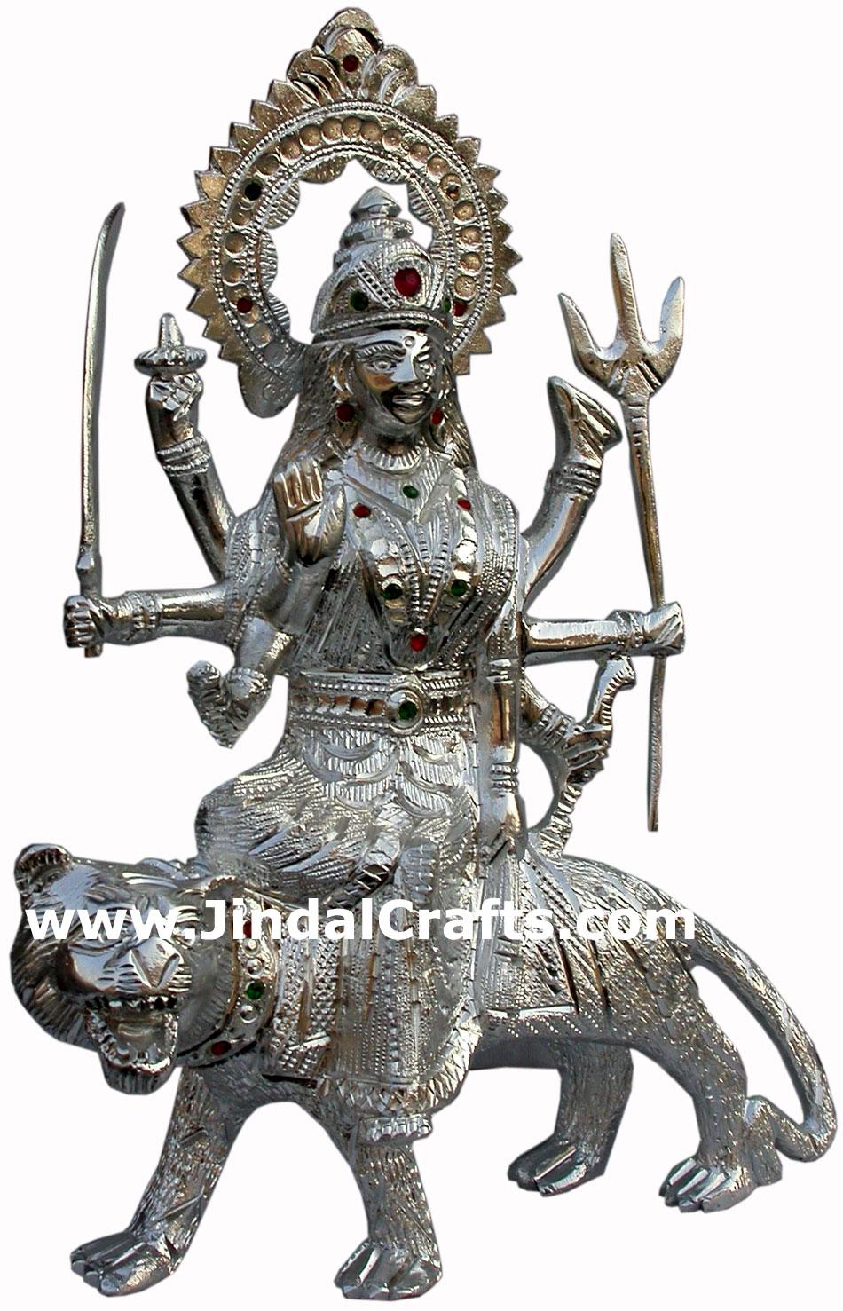Durga Hand Carved Indian Art Craft Handicraft Home Decor