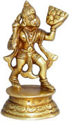 Handmade Brass Statue of Lord Hanuman India Brassware Handicraft Art Craft