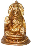 Hindu Deities Goddess Luxmi India Brass Carving Artefac