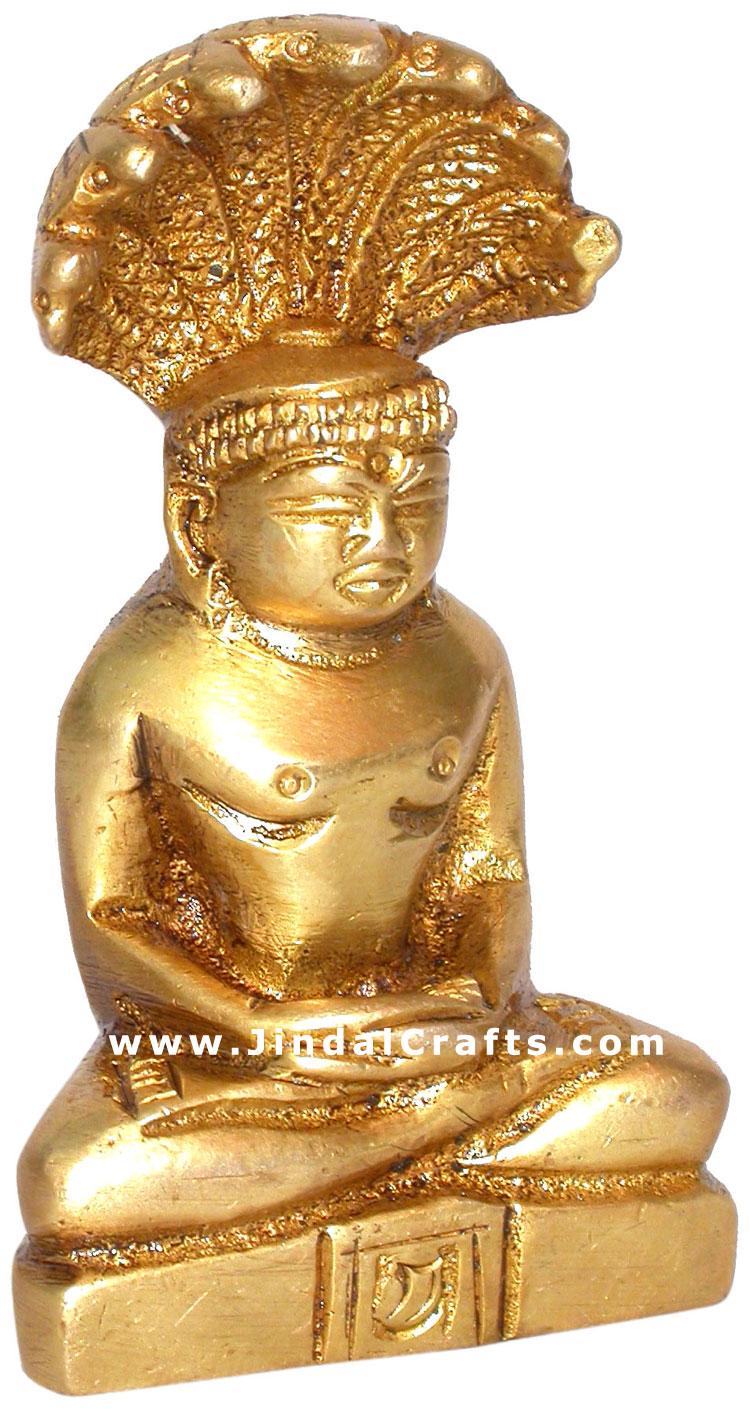 GOD PARASNATH JAINISM RELIGIOUS STATUE INDIAN ARTIFACT ...