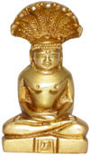 God Parasnath Jainism Religious Statue Indian Artifact Brass Handicraft Figurine