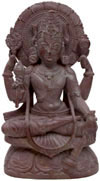 Lord Narayana Hindu Deities India Stone Carving Statue Idol Sculpture Hinduism