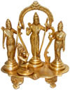 Rama Family Rama Sita Laxman in Ram Darbar Indian Gods