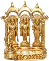 Ram Darbar - Brasd Carving Indian God Religious Statue