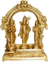 Handmade Brass Statue of Ram Darbar India Brassware Handicraft Art Craft
