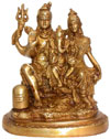 Hindu Deities God Shiva Family Paevati Ganesha India