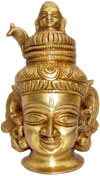 Shiva with Ganga in Head Religious God Idol India Art