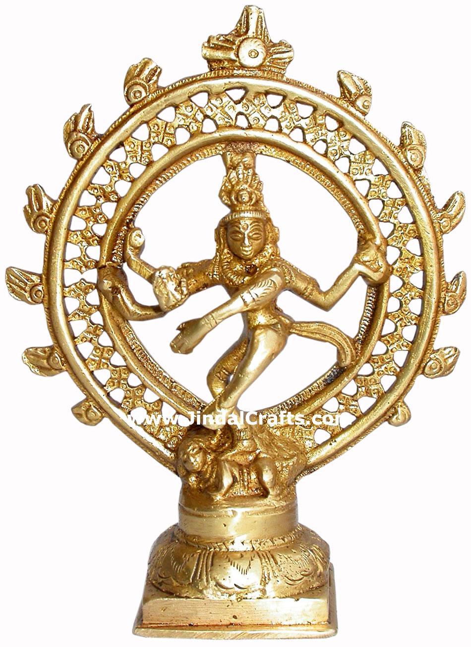 Natraja Hand Carved Indian Art Craft Handicraft Home Decor Brass Figurine