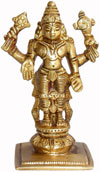 Vishnu - Hand Carved Indian Art Craft Handicraft Home Decor Brass Figurine