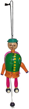 Dancing Joker - Handmade Wooden Toy from India