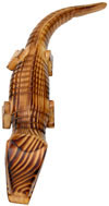 Handmade Handpainted Wooden Crocodile Toy India