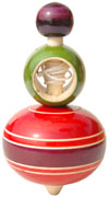 Handmade Handpainted Wooden Spinning Top Toy India Art