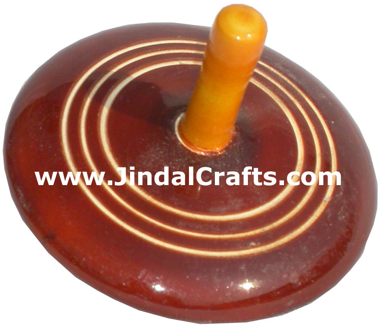 Spin Top Vegetable Color based Wooden Hand Crafted Arts