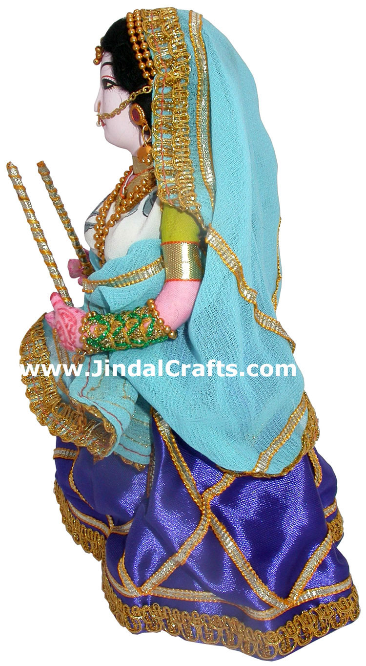 Handmade Traditional Costume Doll India Gujrati Dandiya