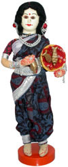 Handmade Traditional Indian Collectible Costume Doll Home Decor Artifact Figures