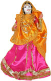 Marwadi Bride Handmade Traditional Saree Doll India Art