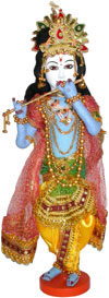 Lord Krishna Handmade Traditional Indian Collectible Costume Doll Home Decor Art