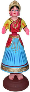 Papier Mache Made Traditional Dancing Doll - Handmade Art