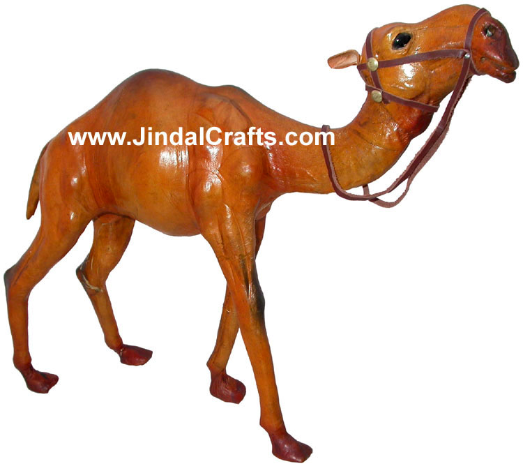 Camel - Handmade Stuffed Leather Animals Toys India Art