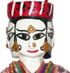 Handmade Rare Four Faced Wooden Puppet India Folk Art