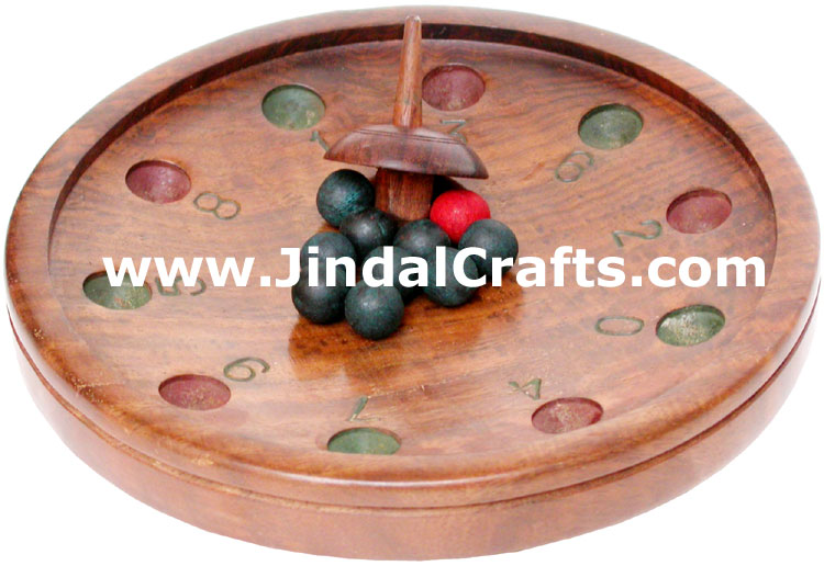 Umbrella Top Ball - Handmade Wooden Traditional Game
