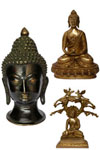 Jindal Crafts' Handicraft Store presents a whole new range of Buddha statues, sculpted in wood, stone, bronze and other materials. These Buddha statues come in different stances, such as the Laughing Buddha, Medicine Buddha, Shakyamuni Buddha, and others.