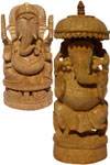 Here is a unique collection of handcrafted Ganesha statues, sculpted in wood, marble, bronze, soap stone, and available in all its different stances. The statue of Ganesha, the Indian deity of peace and prosperity, not only emanates positive energy and sa